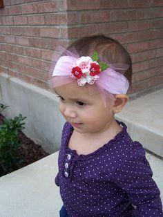 Hair Flips: Fun, Felt Hair Clips: Headbands