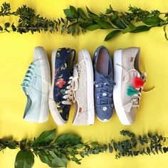 Shoes for warm weather - especially love the ones in the middle! Could go with everything but more fun than just white or solid
