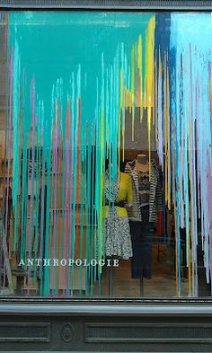 Window-painting discussion continues at http://auntiekate.wordpress.com/2012/10/12/paint-your-windows/ Here's an Anthropologie window that's stunning & could ALSO solve the problem a lot of shops have with too much sunlight. Dare you stand out from the Sea of Sameness?