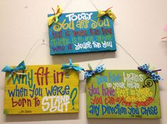 Custom HandPainted Dr Suess sign on 8x12 wood by WhatchawantDesign, $45.00