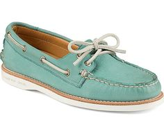 Sperry - Women Gold A/O 2-Eye - Turquoise - LE CAPITAINE D'A BORD