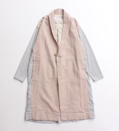 Pale peach and grey duster coat | AMBIDEX STORE/拡大画像