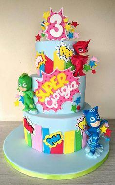 37 Best Super Pigiamini Images In 2019 Pj Masks Cake Topper Cakes