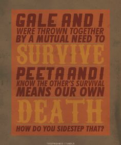 From The Hunger Games. Pretty confusing, don't you think?