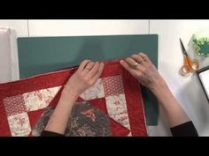 Quilt Binding: Flanged Binding by Machine - YouTube. Do not clip away the straight corner support as shown here. myb