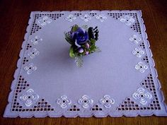 Hardanger Embroidery Handmade Doily in Lightlilac | eBay