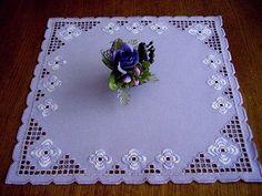 Hardanger Embroidery Handmade Doily in Lightlilac | eBay