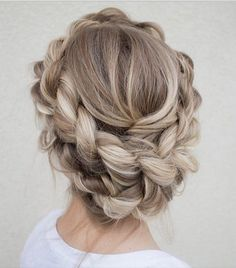 milk maid braid   we ❤ this!  moncheribridals.com  #bridalbraids #braidedupdo #weddingupdo