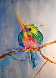 Sweet Hummingbird, painting by artist Delilah Smith