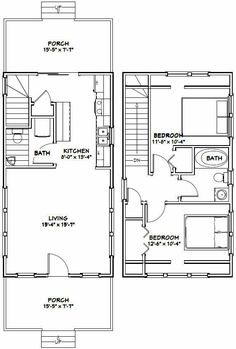 16x20 Houses Pdf Floor Plans 569 Sq Ft By