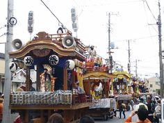 Ibaraki  土浦祇園祭山車並び。