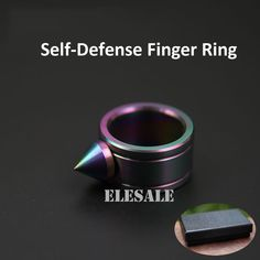 High Quality Stainless Steel Color Self Defense Ring For Women Men Safety Outdoor EDC Kit Self-defense Weapon Gift Box