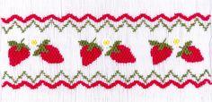 Luscious Strawberries $4.50 | CrossEyedCricket | SmockingBonnet