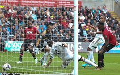 Welbeck extended Manchester United's lead by firing home from close range