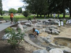 Interactive swale
