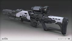 Destiny - House of Wolves - Sniper Rifle, Mark Van Haitsma on ArtStation at https://www.artstation.com/artwork/destiny-house-of-wolves-sniper-rifle