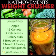 Juicing Vegetables & Fruit   ⭐️WEIGHT CRUSHER⭐️  This juice combo is an excellent choice for those of you trying to shed some weight for your sexy summer bodies! Greens will keep your body clean and lean!  TO EXCEPTIONAL LOVE AND HEALTH! Juicing Vegetables & Fruit Kat =^.^= https://www.facebook.com/JUICING101