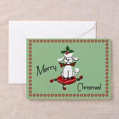 Retro style Dog Christmas Cards on CafePress.com