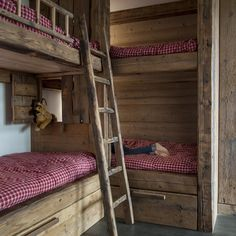 Chalet in Megeve, France Rustic Bunk Beds, Bed Nook, Winter Cabin, Shared Rooms, Little Houses, Home Crafts, Bungalow, Interior Design, Furniture