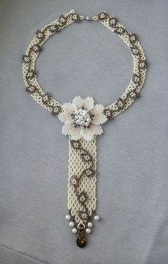 Mini tie | biser.info - all about beads and beaded works