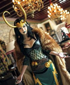 Lady Loki. @Felicia Culligan you could pull that off crazy awesome!! <3