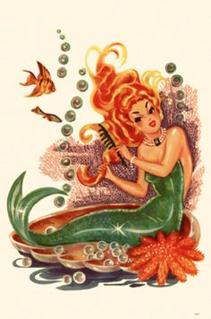Mermaid via LayBabyLay via AllPosters.