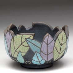 Raku fired leaf bowl.  Now in our Etsy shop. #indianaartist #artist #davisvachon…