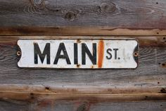 Vintage Main Street Sign Colorado Road Sign - Vintage Street Signs - Main Street - Denver CO - Metal Vintage Highway Sign #AmericanAntique #ColoradoSigns #main #VintageSign #sign #HighwaySigns #RoadSign #VintageRoadSign #MainStreet #DenverColorado #MainStreetSign #StreetSign
