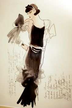 Coco Chanel....fashion illustration| Be inspirational . Mz. Manerz: Being well dressed is a beautiful form of confidence, happiness  politeness