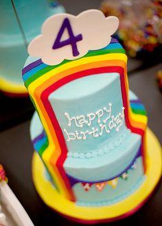 Rainbow birthday cake Rainbow Stuff Pinterest Rainbow