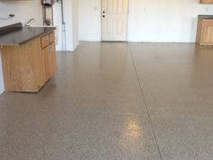 Full chip garage floor coating from Penntek Industrial Coatings!
