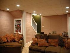 Basement Lighting Ideas for the Stairway Area - https://midcityeast.com/basement-lighting-ideas-for-the-stairway-area/