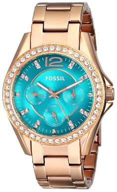 Gold watches women Fossil