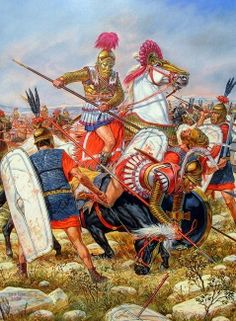 Battle of Magnesia 190BCE. Fought between the Seleucid empire under Antiochus III 'The Great' against the forces of Lucius Cornelius Scipio and his brother Publius Cornelius Scipio Africanus, the victor of Zama. ~ by Dzis Igor 2005