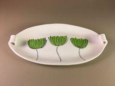 pottery platter porcelain ceramic slab built by AmyFoxCeramics