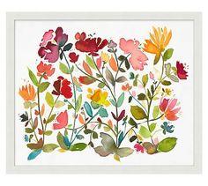 Oversize Floral Pattern Framed Print #potterybarn