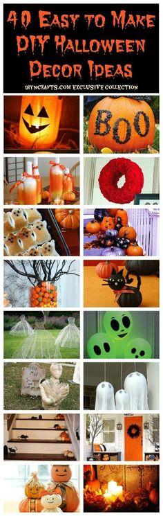 40 Easy to Make DIY Halloween Decor Ideas by lelia