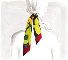 Graff Hermès  Silk twilly, 32'' x 2''