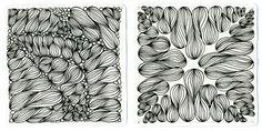 New Zentangle pattern: Onion Drops — Shastablasta wraps presents well