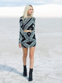 Lottie Hall Hindi Print Bodycon Set at Free People Clothing Boutique
