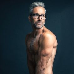 This gorgeous, glasses-wearing god: @thegarrettswann. | 15 Stunning Silver Foxes That Will Awaken Your Inner Thirst