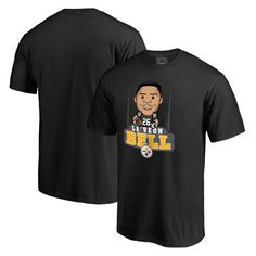 Le'Veon Bell Pittsburgh Steelers NFL Pro Line Emoji Player T-Shirt - Black