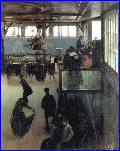 Ramon Casas i Carbó 1866-1932 Spain  Bal au moulin de la Galette 1890-1891 Huile sur toile 100 x 81 cm Cau Ferrat Museo, Sitges, Spain..jpg