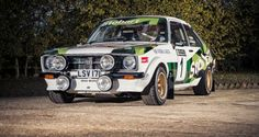 A 1977 Ford Escort MkII RS1800 Group Four rally car.