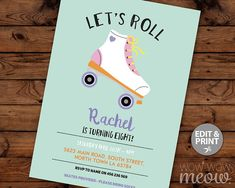 Super Cute invite wording for skate party | 12th Birthday ...