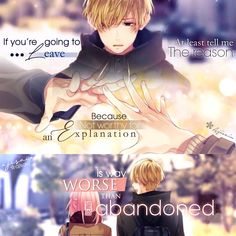 If you're going to leave at least tell me the reason, because not worthy for an explanation is way worse than being abandoned. Sad Anime Quotes, True Quotes, Manga Quotes, My Dreams Quotes, Dream Quotes, Inspiring Quotes About Life, Quotes About Deppresion, Inspirational Quotes, Missing Quotes