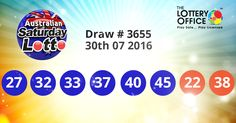 Australian Saturday Lotto winning numbers results are here. Next Jackpot: $4 million #lotto #lottery #loteria #LotteryResults #LotteryOffice
