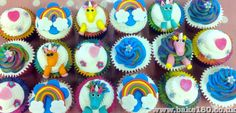 Unicorn and rainbow cupcakes