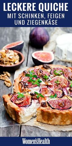 You have to try these egg recipes!- The quiche is definitely one of the culinary highlights of French cuisine. In this healthy and high-protein recipe for quiche with goat cheese, figs and Serrano ham you are allowed to access more often - Quiche Recipes, Tart Recipes, Egg Recipes, Pizza Recipes, High Protein Recipes, Protein Foods, Avocado Dessert, Healthy Mexican Casserole, Brunch