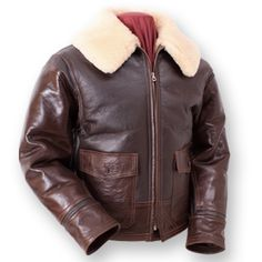 WWII reproduction Aviation leather jacket from Eastman Leather Clothing.  Extremely fun gift